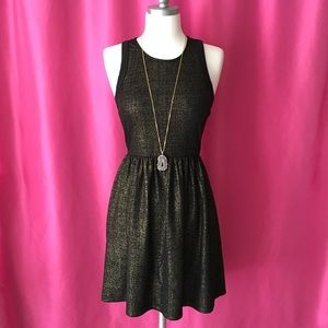 Metallic Black and Gold Dress